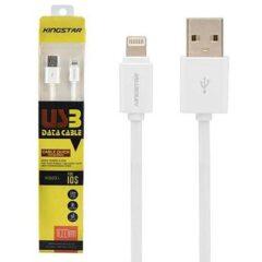 کابل تبدیل USB به Lightning کینگ استار مدل KS03 i طول 1 متر