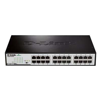 سوییچ 24 پورت گیگابیتی، غیر مدیریتی و دسکتاپ دی لینک مدل DGS-1024D
