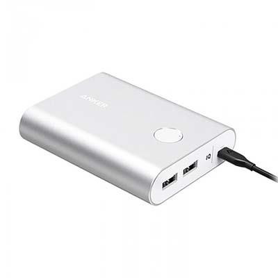 شارژر همراه انکر مدل A1316 PowerCore Plus با ظرفیت 13400 میلی آمپر به همراه کابل MicroUSB