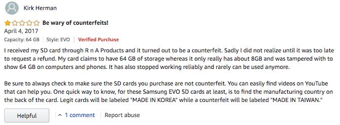 خرید کارتهای حافظه micoSD فیک یا تقلبی