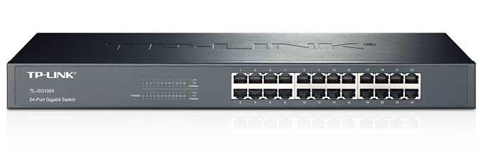 سوییچ رکمونت اترنت گیگابایت 24 پورت تی پی لینک مدل TL-SG1024