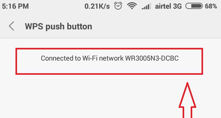 اتصال گوشی با دکمه WPS