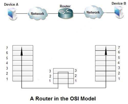 مدل OSI انواع روتر ها