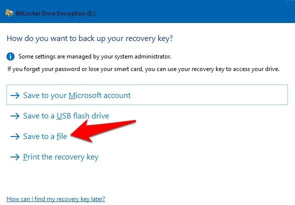 BitLocker را فعال کنید