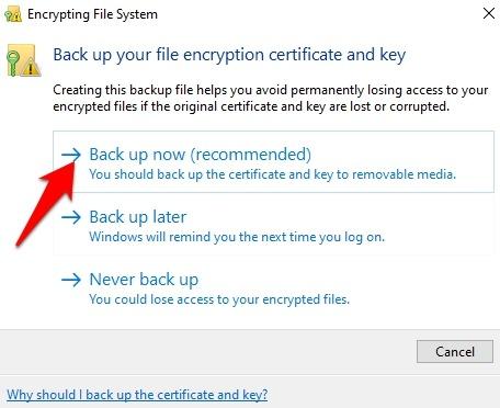 محافظت از فایلها و پوشهها در ویندوز 10 با استفاده از رمزگذار داخلی