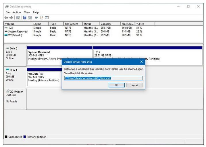 نحوه مونت کردن VHDX یا VHD در ویندوز 10