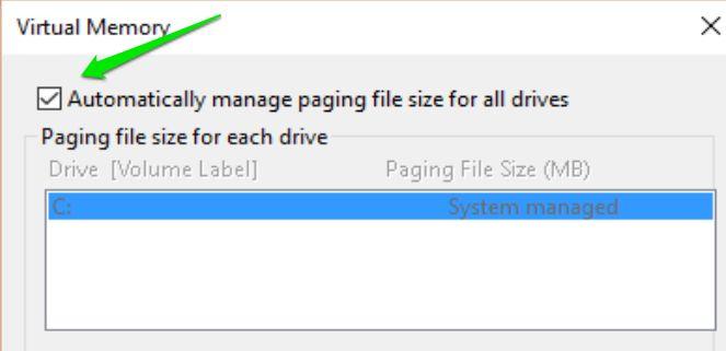 تعییر اندازه حافظه مجازی در ویندوز 10