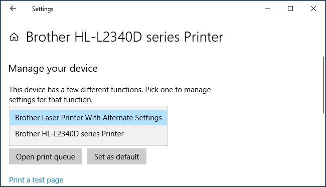 نحوه نصب یک پرینتر با دو تنظیمات متفاوت در ویندوز