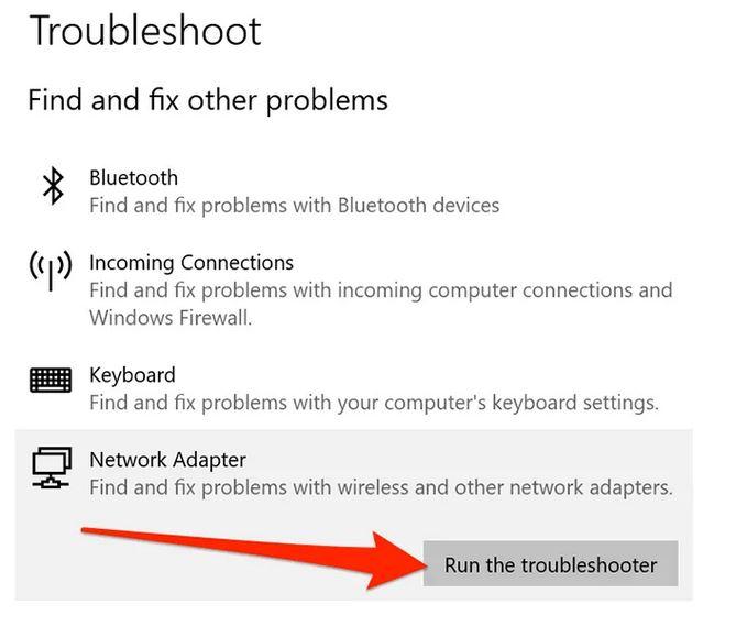 استفاده از Troubleshooter شبکه