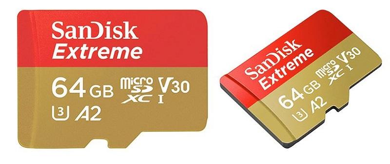 SanDisk Extreme microSD U3 A2