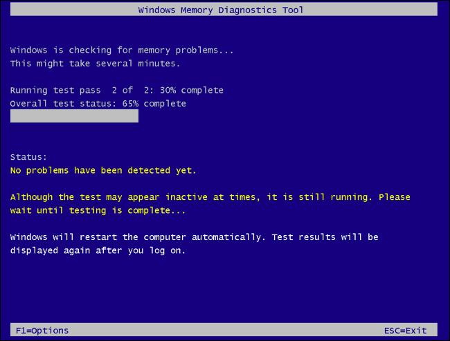 اجرای ابزار Windows Memory Diagnostic