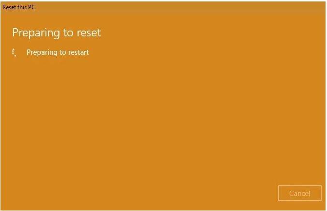 فعال کردن گزینه Reset برای بازگردانی ویندوز 10 به تنظیمات کارخانه