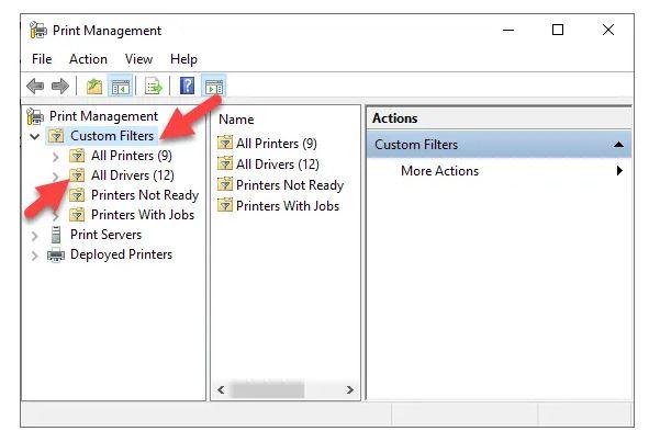 استفاده از Print Management برای حذف پرینترهای قدیمی