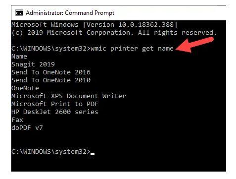 حذف پرینتر و پاک کردن درایور چاپگر با استفاده از Command Prompt