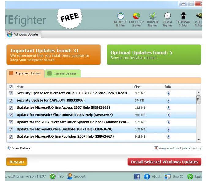 نحوه آپدیت ویندوز با استفاده از برنامه جانبی OUTDATEfighter