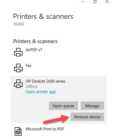 آموزش 5 روش حذف درایور پرینتر در ویندوز 10