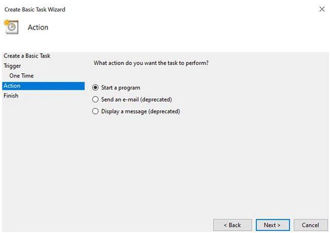 خاموش نمودن کامپیوتر با استفاده از task scheduler در سیستم ویندوز