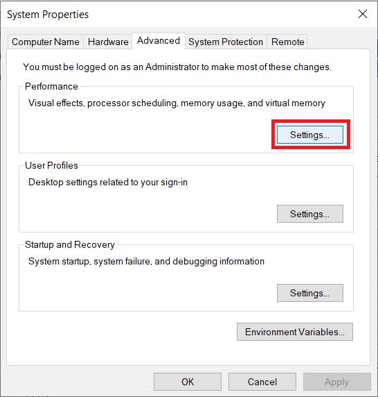 روش 3 – افزایش VRAM از طریق System Settings