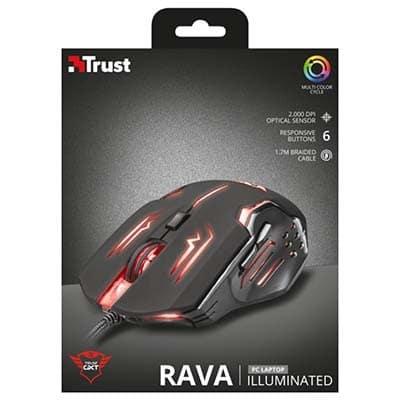 موس گیمینگ تراست مدل Trust GXT 108 Rava Illuminated