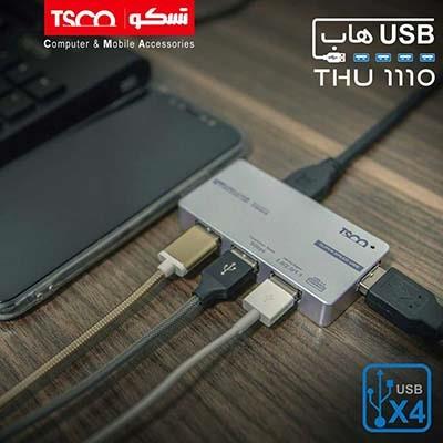 هاب USB 3.0 چهار پورت تسکو مدل THU 1110