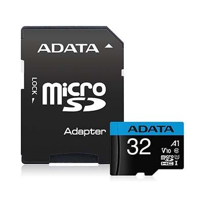 کارت حافظه microSDHC ای دیتا مدل UHS-I Class10 R100W25 با آداپتور - 32 گیگابایت