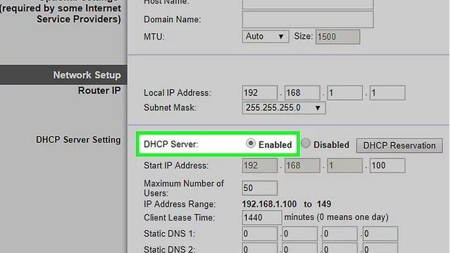 نحوه فعال کردن DHCP در روتر