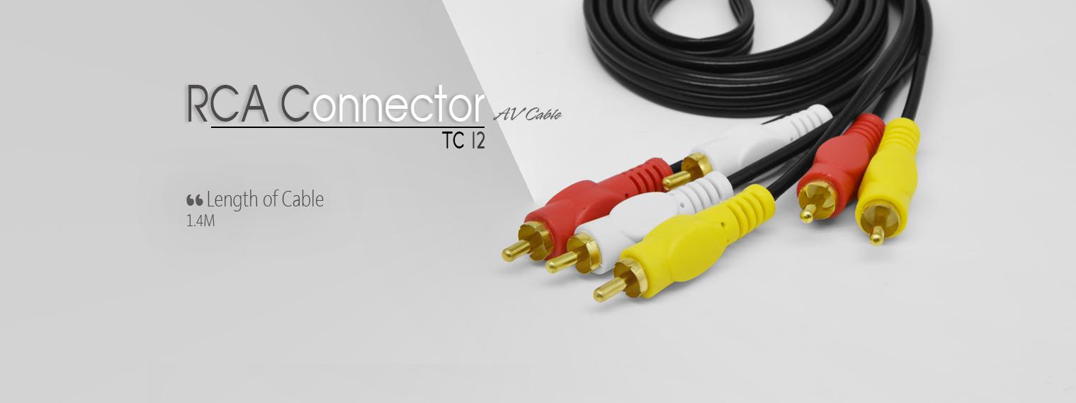 کابل صدا و تصویر 3  به 3 تسکو مدل TC 12 به طول 1.4 متر