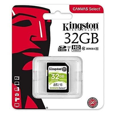 کارت حافظه کینگستون مدل SDHC Select 80R C10 با ظرفیت 32 گیگابایت