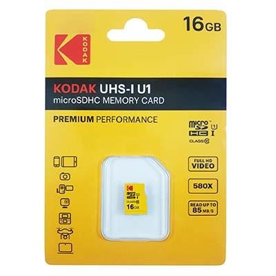 کارت حافظه microSDHC کداک مدل Premium Performance کلاس 10 استاندارد UHS-I U1 سرعت 85MBps ظرفیت 16 گیگابایت