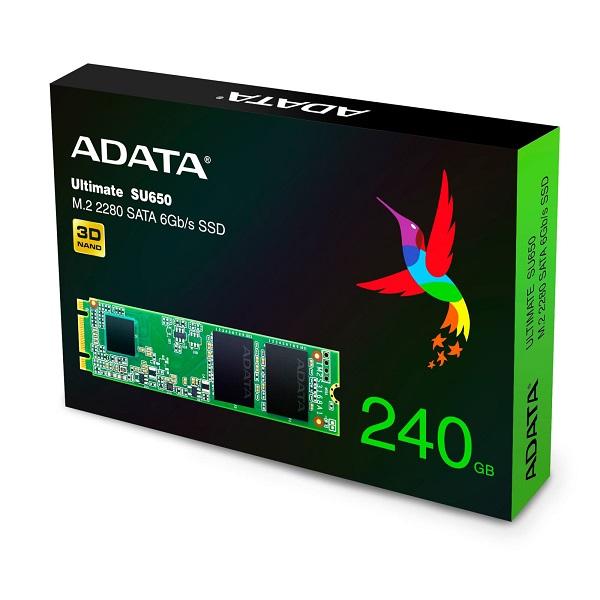 اس اس دی اینترنال ای دیتا مدل ADATA SU650 M.2 ظرفیت 240 گیگابایت