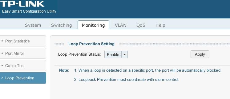 SG108E Loop Prevention