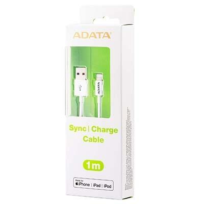 کابل شارژ USB به Lightning ای دیتا با روکش پلاستیکی