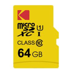 کارت حافظه microSDXC کداک مدل Premium Performance کلاس ۱۰ استاندارد UHS-I U1 سرعت ۸۵MBps ظرفیت 64 گیگابایت