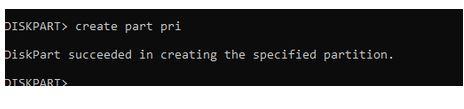 نحوه پارتیشن بندی هارددیسک با استفاده از DiskPart
