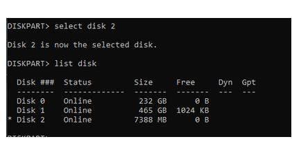 نحوه استفاده از DiskPart برای فرمت بندی هارددیسک