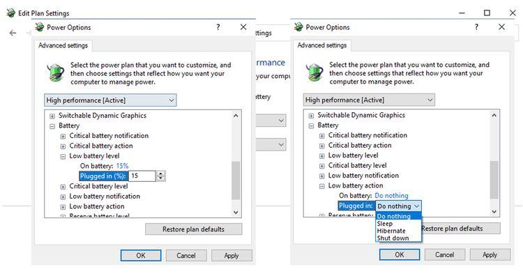 5 روش حل مشکل هشدار ندادن ضعیف بودن باتری لپ تاپ در ویندوز