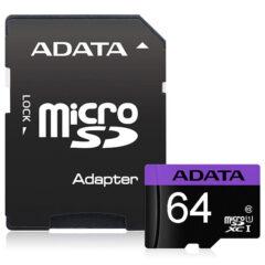 کارت حافظه 64 گیگابایت Premier ای دیتا سرعت 80MBps با آداپتور