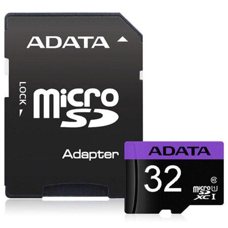 کارت حافظه 32 گیگابایت Premier ای دیتا سرعت 80MBps با آداپتور