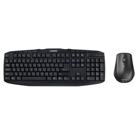 کیبورد  Green GKM-305 Wired Keyboard and Mouse
