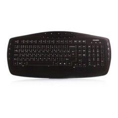 کیبورد Farassoo FCR-6160 USB Internet and Multimedia Keyboard