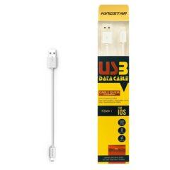 کابل تبدیل Lightning به USB کینگ استار مدل KS20 i طول 0.2 متر