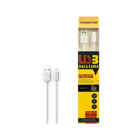کابل تبدیل Lightning به USB کینگ استار مدل KS120 i طول 1.2 متر