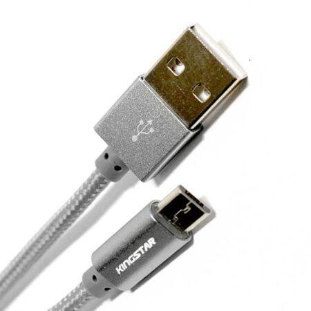 کابل تبدیل USB به microUSB کینگ استار مدل  KS08 A طول 1 متر