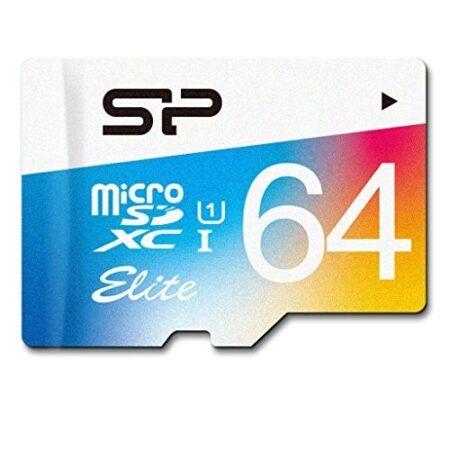 کارت حافظه microSDXC سیلیکون پاور مدل Color Elite کلاس 10 استاندارد UHS-I U1 سرعت 85MBps ظرفیت 64 گیگابایت