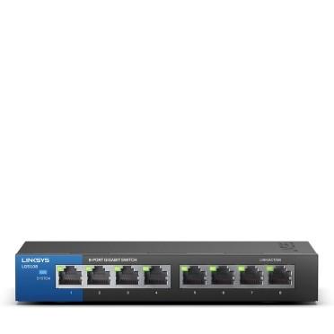 سوئیچ 8 پورت گیگابیت دستکاپ و تجاری لینکسیس مدل LGS108-EU-RTL