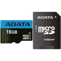 کارت حافظه microSDHC ای دیتا مدل Premier V10 A1 کلاس 10 استاندارد UHS-I سرعت 100MBps ظرفیت 16 گیگابایت